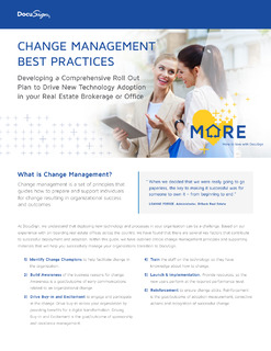Change Management Best Practices: Developing a Comprehensive Roll Out Plan to Drive New Technology