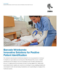 Reduce patient identification errors and streamline hospital processes