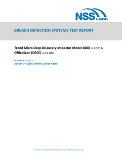 NSS Labs Breach Detection Systems Report