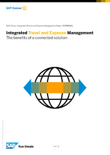 Integrated Travel and Expense Management The benefits of a connected solution