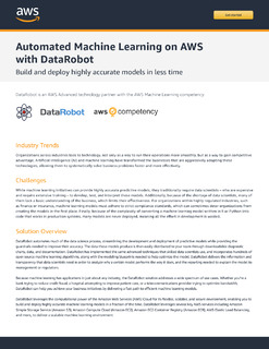 Automated Machine Learning on AWS with DataRobot