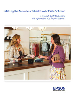 Making The Move To a Tablet Point of Sale Solution – A Research Guide to Choosing the Right mPOS