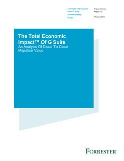 The Total Economic Impact™ Of G Suite An Analysis Of Cloud-To-Cloud Migration Value