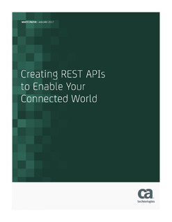 Creating REST APIs to Enable Your Connected World