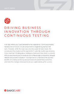 Driving Business Innovation Through Continuous Testing