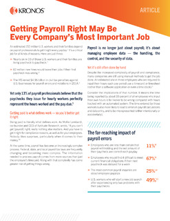 Getting Payroll Right May Be Every Company's Most Important Job