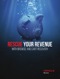 Rescue Your Revenue With Browse and Cart Recovery