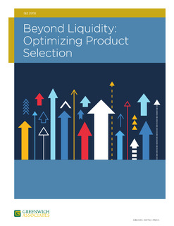 Beyond Liquidity: Optimizing Product Selection (Greenwich Associates)