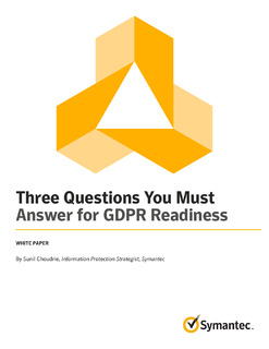 Three Questions You Must Answer for GDPR Readiness