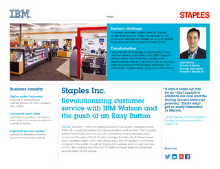 """""""Staples Inc"""" case study: Customer services with virtual assistants"""