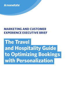 Travel and Hospitality Guide to Optimizing Bookings with Personalization
