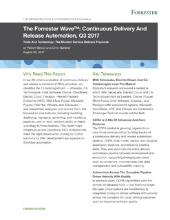 The Forrester Wave™: Continuous Delivery And Release Automation