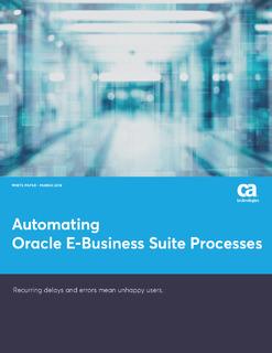 Automating Oracle E-Business Suite Processes