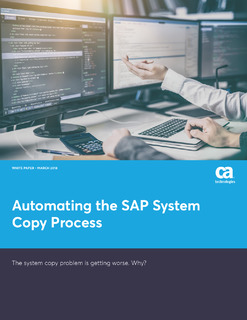 Automating the SAP System Copy Process