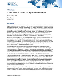 A New Breed of Servers for Digital Transformation