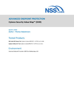 ADVANCED ENDPOINT PROTECTION: Cylance Security Value Map™ (SVM)