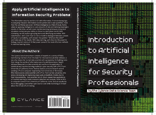 Apply Artificial Intelligence to Information Security Problems