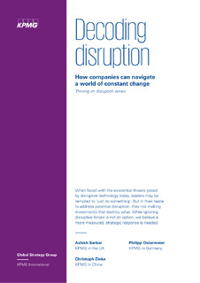 Decoding disruption: How to develop a strategy for navigating disruption