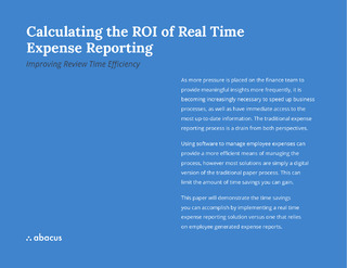 Calculating the ROI of Real Time Expense Reporting