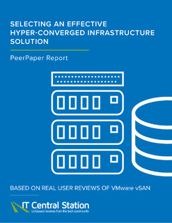 Selecting an Effective Hyper-Converged Infrastructure Solution