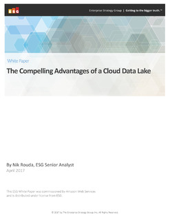 The Compelling Advantages of a Cloud Data Lake