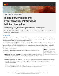 The Role of Converged and Hyper-converged Infrastructure in IT Transformation