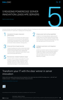 5 Reasons PowerEdge Server Innovation Leads HPE Servers