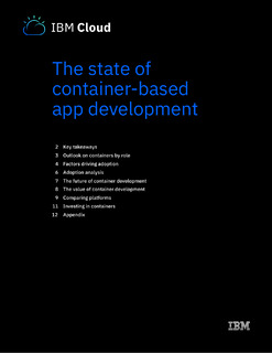 The state of container-based app development