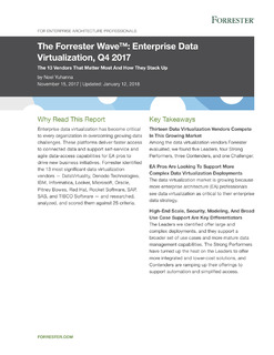 The Forrester Wave™: Enterprise Data Virtualization, Q4 2017