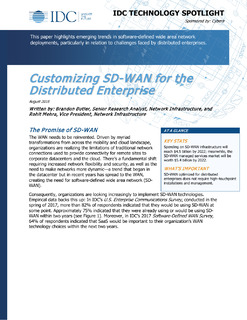 Customizing SD-WAN for the Distributed Enterprise