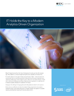 IT Holds the Key to a Modern Analytics-Driven Organization