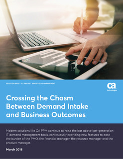 Crossing the Chasm Between Demand Intake and Business Outcomes