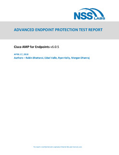 ADVANCED ENDPOINT PROTECTION TEST REPORT