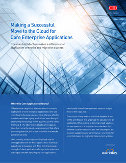 Making a Successful Move to the Cloud for Core Enterprise Applications