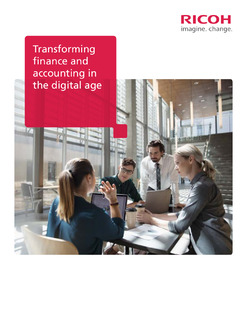 Transforming finance and accounting in the digital age