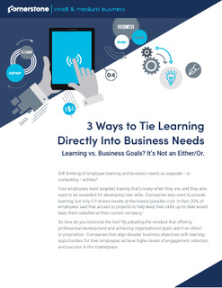 3 Ways to Tie Learning Directly Into Business Needs