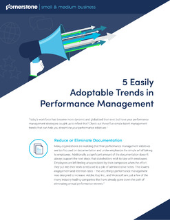 5 Easily Adoptable Trends in Performance Management