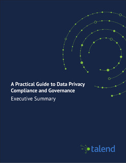 Managing Data Privacy & Trust in a Risky World
