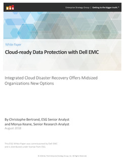 Cloud-Ready Data Protection with Dell EMC