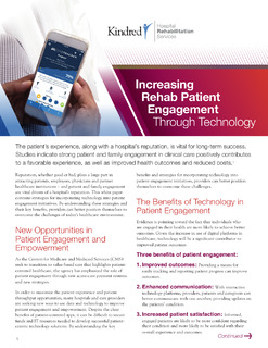 Increasing Rehab Patient Engagement Through Technology