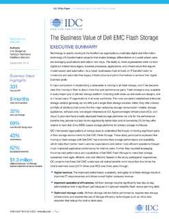 The Business Value of Dell EMC Flash Storage