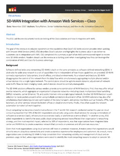 SD-WAN Integration with Amazon Web Services