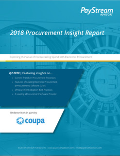 Paystream Procurement Insights 2018