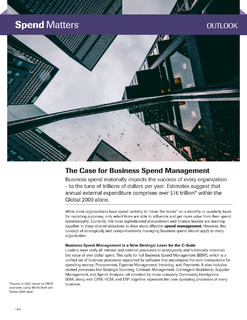 Spend Matters Report: The Case for Business Spend Management