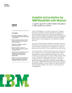 Boost your mobile ROI with powerful Cognitive Insights from IBM MaaS360