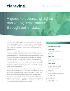 A guide to optimizing digital marketing performance through better data.