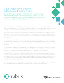 Data Protection Solutions in the Era of Flash Storage