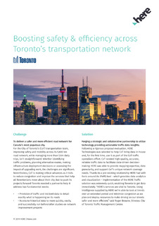 Boosting safety & efficiency across Toronto's transportation network