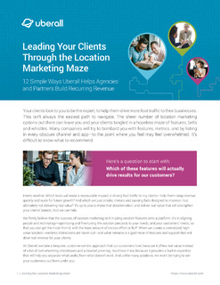 Leading Your Clients Through the Location Marketing Maze