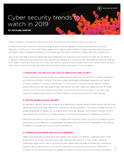 Cyber security trends to watch in 2019
